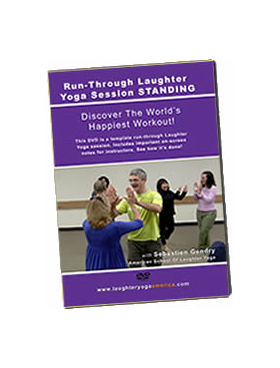 Run-Through Laughter Yoga Session STANDING  (see how it's done)