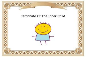 Certificate of the Inner Child